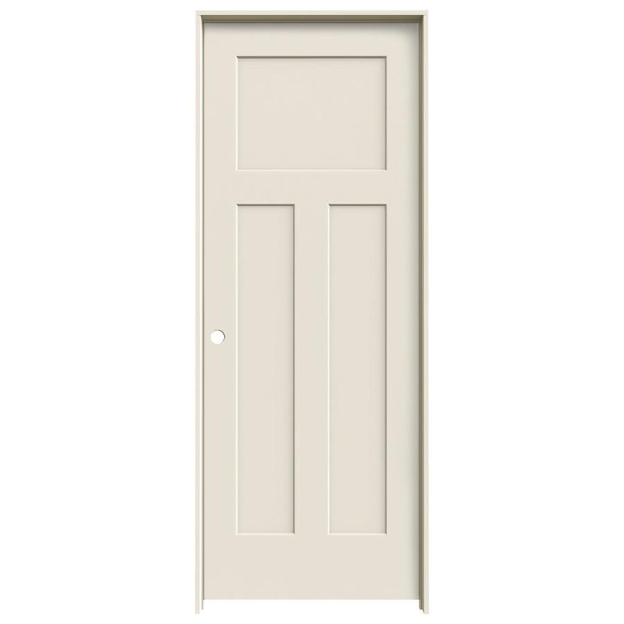 Shop jeld wen 3 panel craftsman single prehung interior for 1 panel interior door