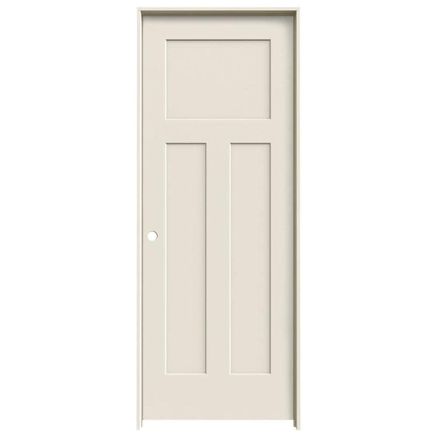 Shop Jeld Wen 3 Panel Craftsman Single Prehung Interior Door Common 30 In X 80 In Actual 31