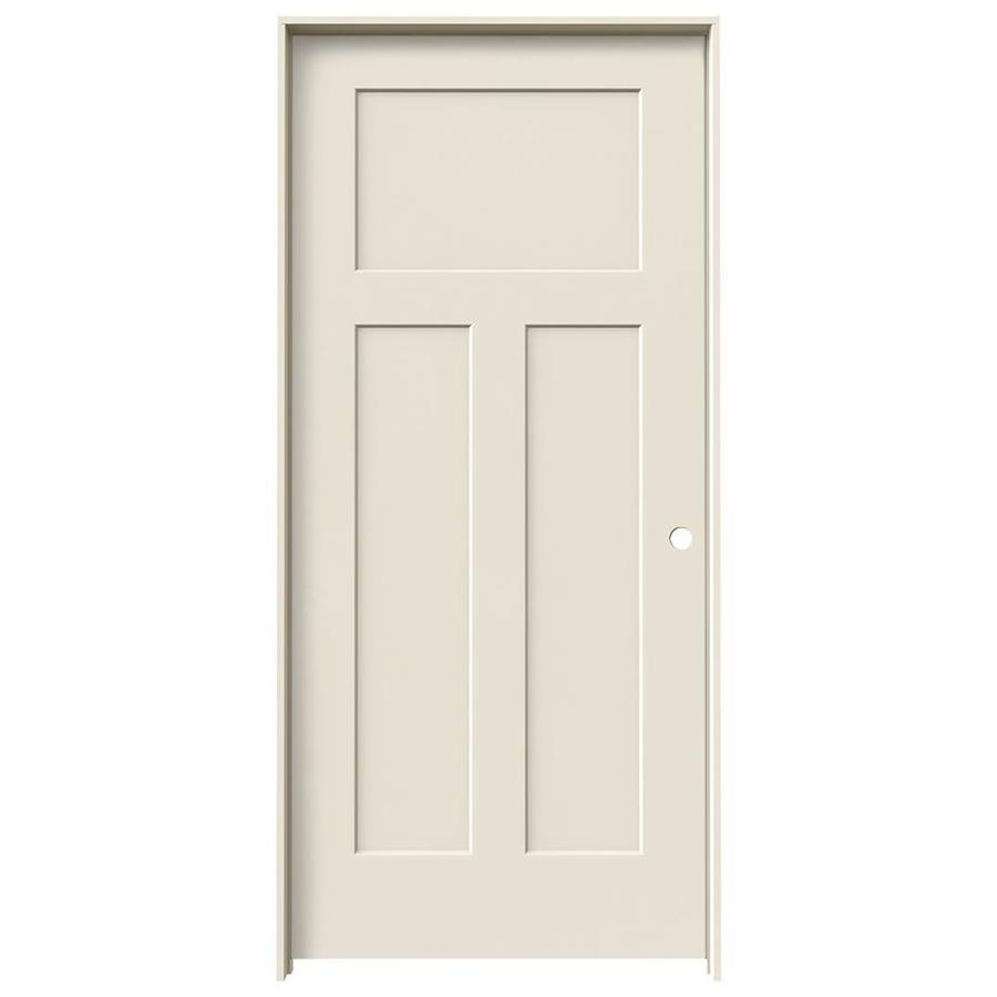 JELD-WEN Craftsman Primed Solid Core Molded Composite Single Prehung Interior Door (Common: 36-in x 80-in; Actual: 37.562-in x 81.688-in)
