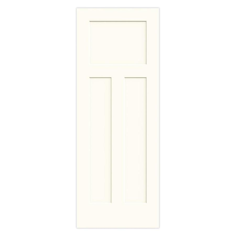 JELD-WEN Craftsman White Solid Core Molded Composite Slab Interior Door (Common: 32-in x 80-in; Actual: 32-in x 80-in)