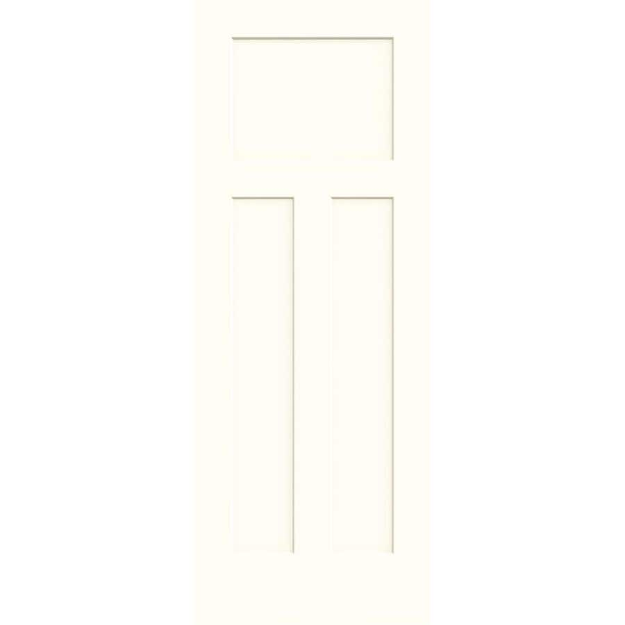 JELD-WEN Craftsman Moonglow Solid Core Molded Composite Slab Interior Door (Common: 28-in x 80-in; Actual: 28-in x 80-in)