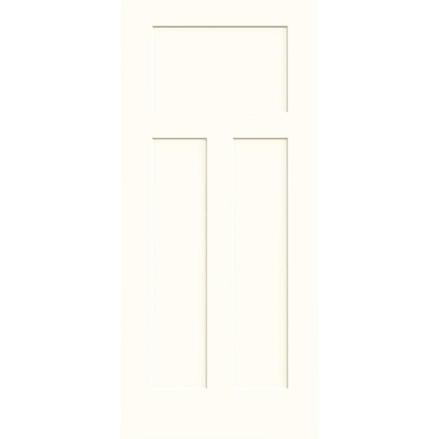 JELD-WEN Moonglow Solid Core 3-Panel Craftsman Slab Interior Door (Common: 36-in x 80-in; Actual: 36-in x 80-in)