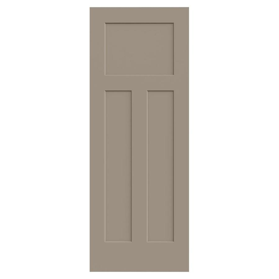 JELD-WEN Sand Piper Solid Core 3-Panel Craftsman Slab Interior Door (Common: 32-in x 80-in; Actual: 32-in x 80-in)
