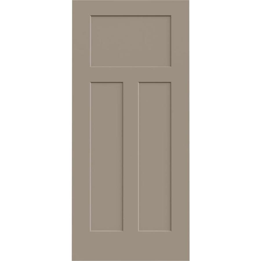 JELD-WEN Sand Piper Solid Core 3-Panel Craftsman Slab Interior Door (Common: 36-in x 80-in; Actual: 36-in x 80-in)