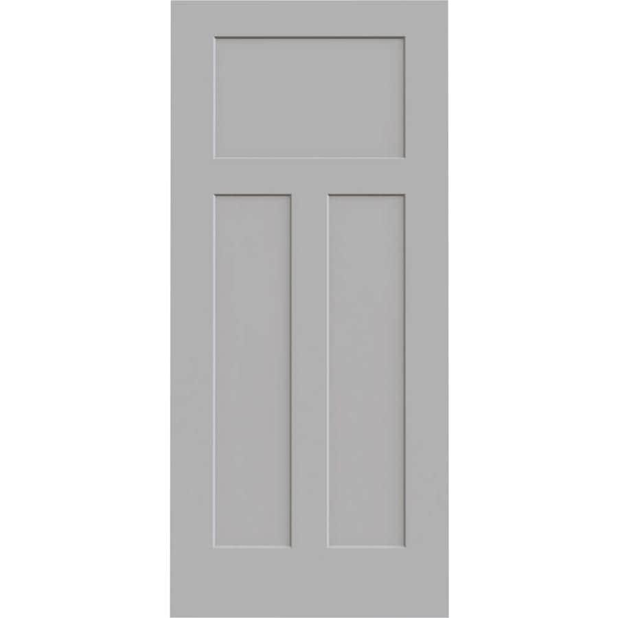 JELD-WEN Driftwood Solid Core 3-Panel Craftsman Slab Interior Door (Common: 36-in x 80-in; Actual: 36-in x 80-in)