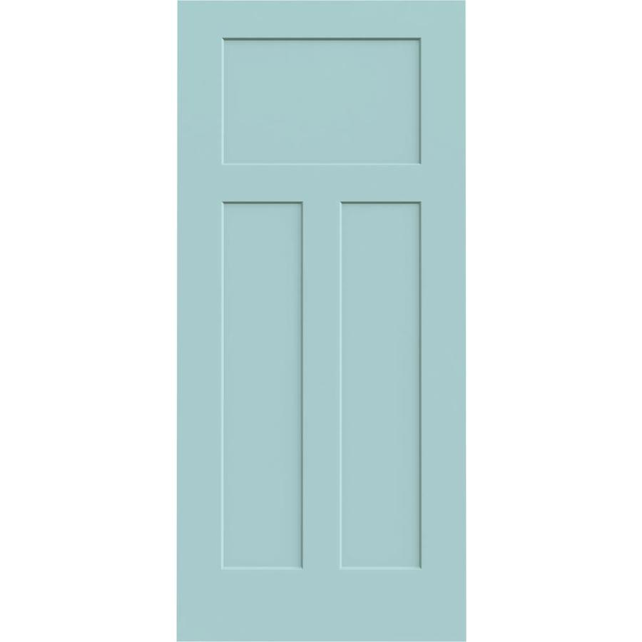 JELD-WEN Craftsman Sea Mist Solid Core Molded Composite Slab Interior Door (Common: 36-in x 80-in; Actual: 36-in x 80-in)