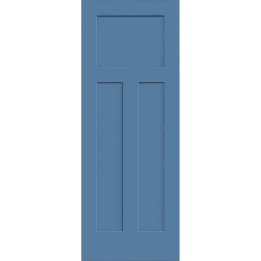 JELD-WEN Blue Heron Solid Core 3-Panel Craftsman Slab Interior Door (Common: 24-in x 80-in; Actual: 24-in x 80-in)