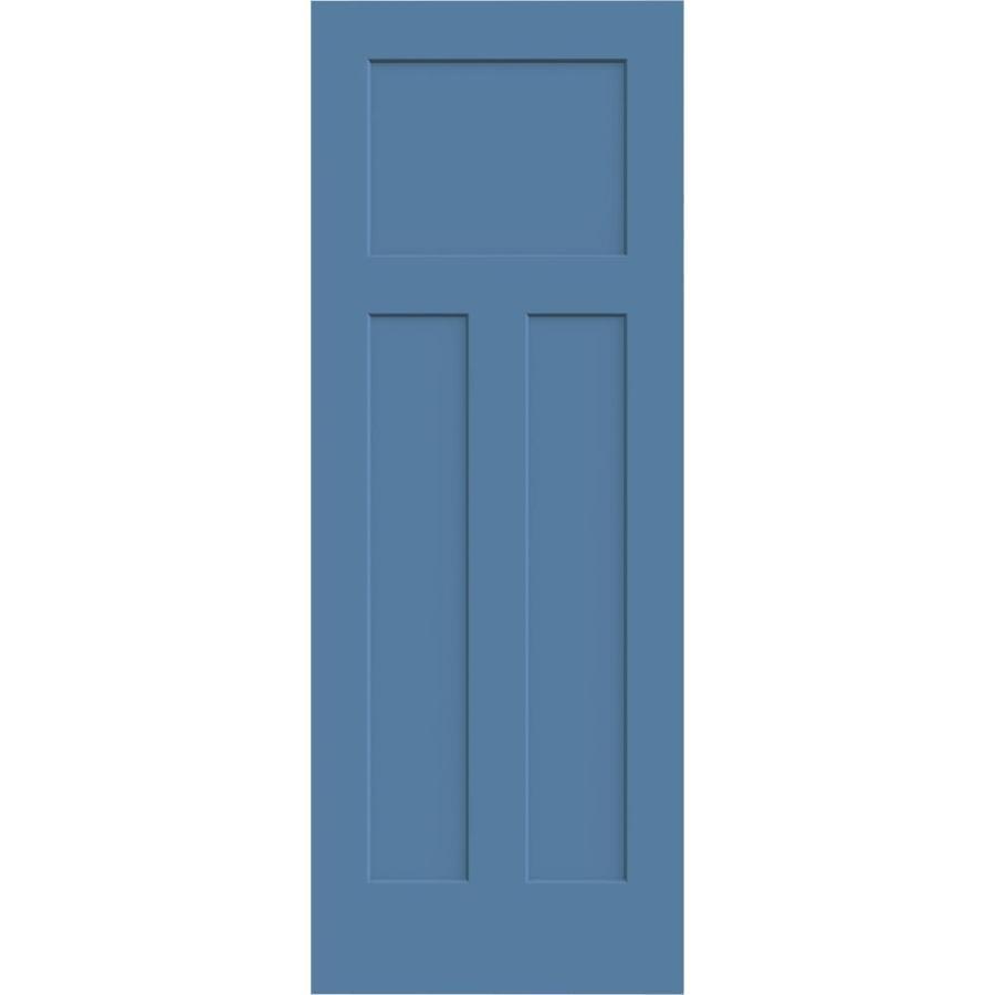 Shop Jeld Wen Craftsman Blue Heron 3 Panel Craftsman Solid Core Molded Composite Slab Door