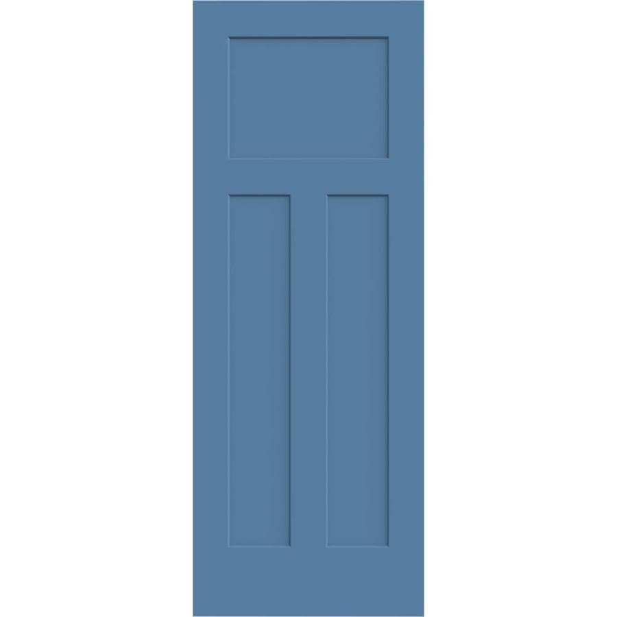 JELD-WEN Blue Heron Solid Core 3-Panel Craftsman Slab Interior Door (Common: 30-in x 80-in; Actual: 30-in x 80-in)