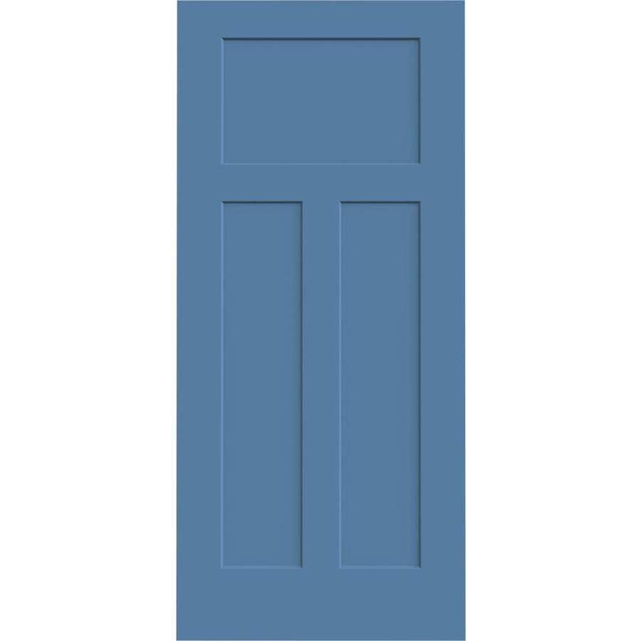 JELD-WEN Blue Heron Solid Core 3-Panel Craftsman Slab Interior Door (Common: 36-in x 80-in; Actual: 36-in x 80-in)