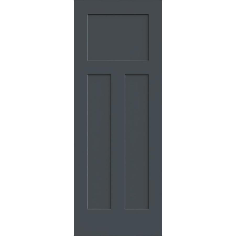 JELD-WEN Slate Solid Core 3-Panel Craftsman Slab Interior Door (Common: 28-in x 80-in; Actual: 28-in x 80-in)