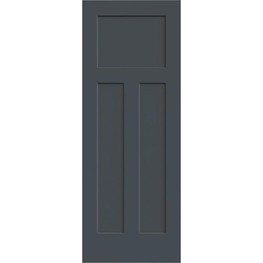 JELD-WEN Slate Solid Core 3-Panel Craftsman Slab Interior Door (Common: 32-in x 80-in; Actual: 32-in x 80-in)