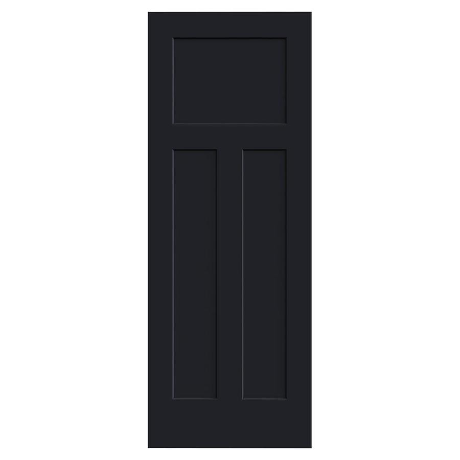 JELD-WEN Midnight Solid Core 3-Panel Craftsman Slab Interior Door (Common: 28-in x 80-in; Actual: 28-in x 80-in)