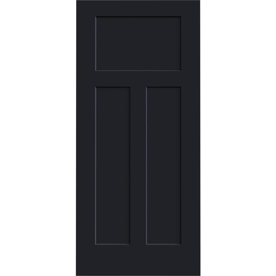 JELD-WEN Craftsman Midnight Slab Interior Door (Common: 36-in x 80-in; Actual: 36-in x 80-in)
