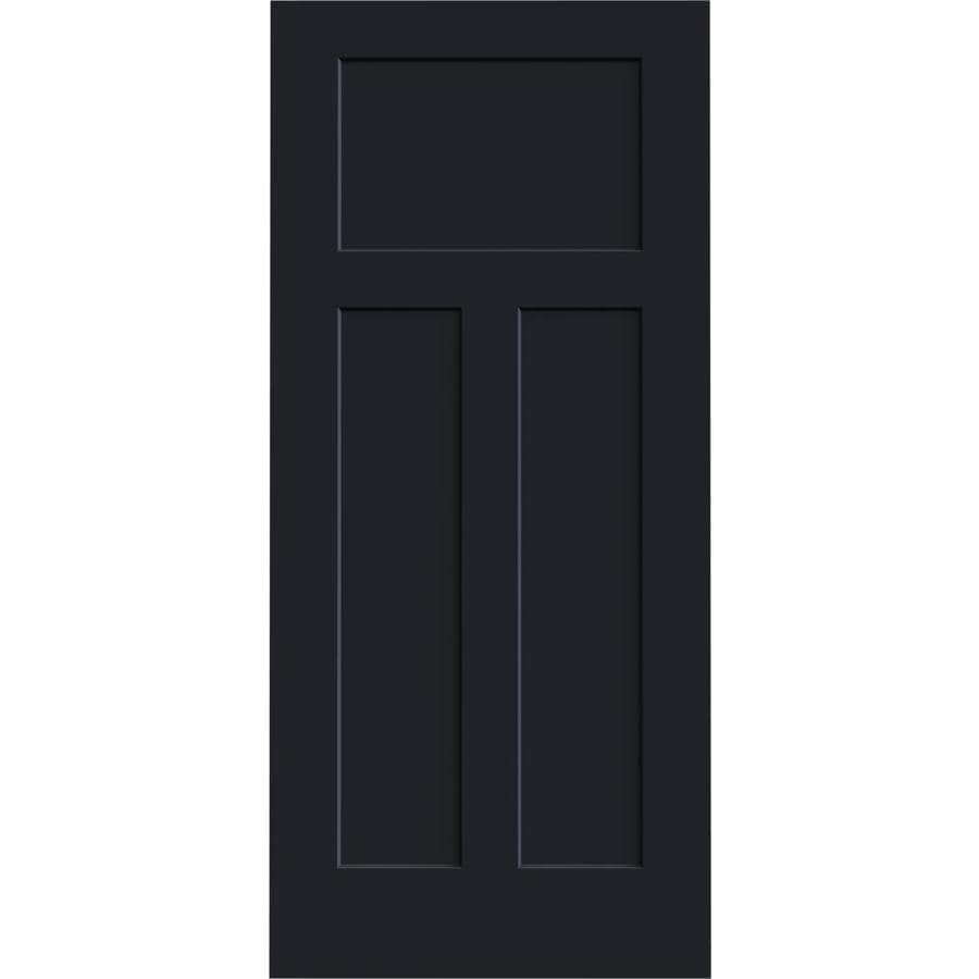 JELD-WEN Midnight Solid Core 3-Panel Craftsman Slab Interior Door (Common: 36-in x 80-in; Actual: 36-in x 80-in)