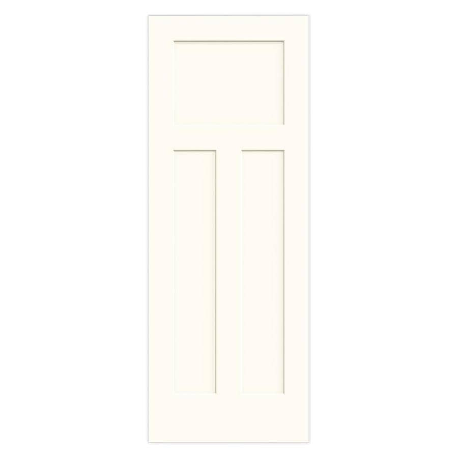 JELD-WEN White Hollow Core 3-Panel Craftsman Slab Interior Door (Common: 28-in x 80-in; Actual: 28-in x 80-in)