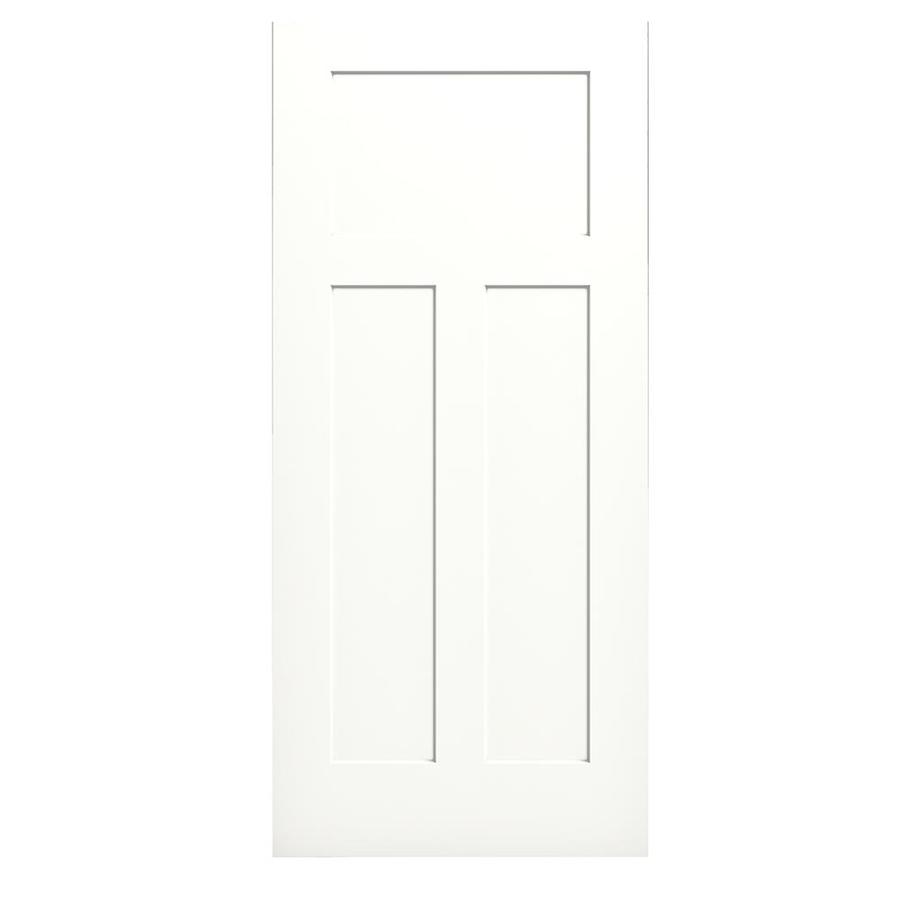 JELD-WEN Craftsman Snow Storm Slab Interior Door (Common: 36-in x 80-in; Actual: 36-in x 80-in)