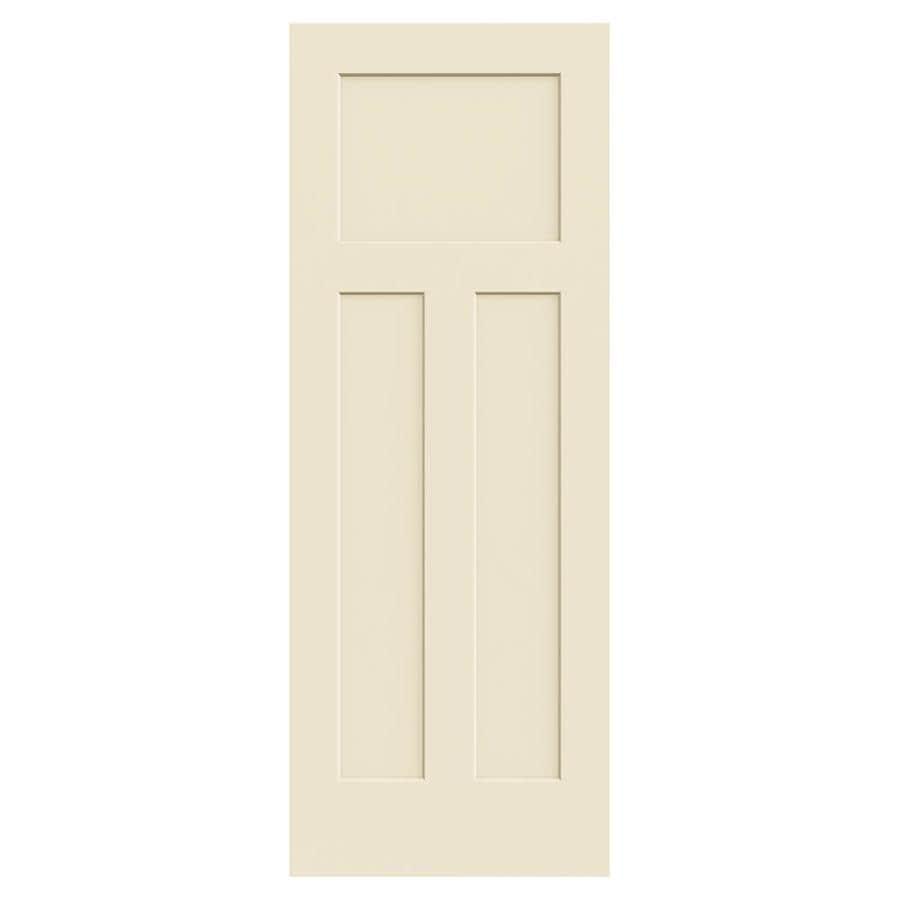 Shop jeld wen cream n sugar hollow core 3 panel craftsman - 3 panel hollow core interior doors ...