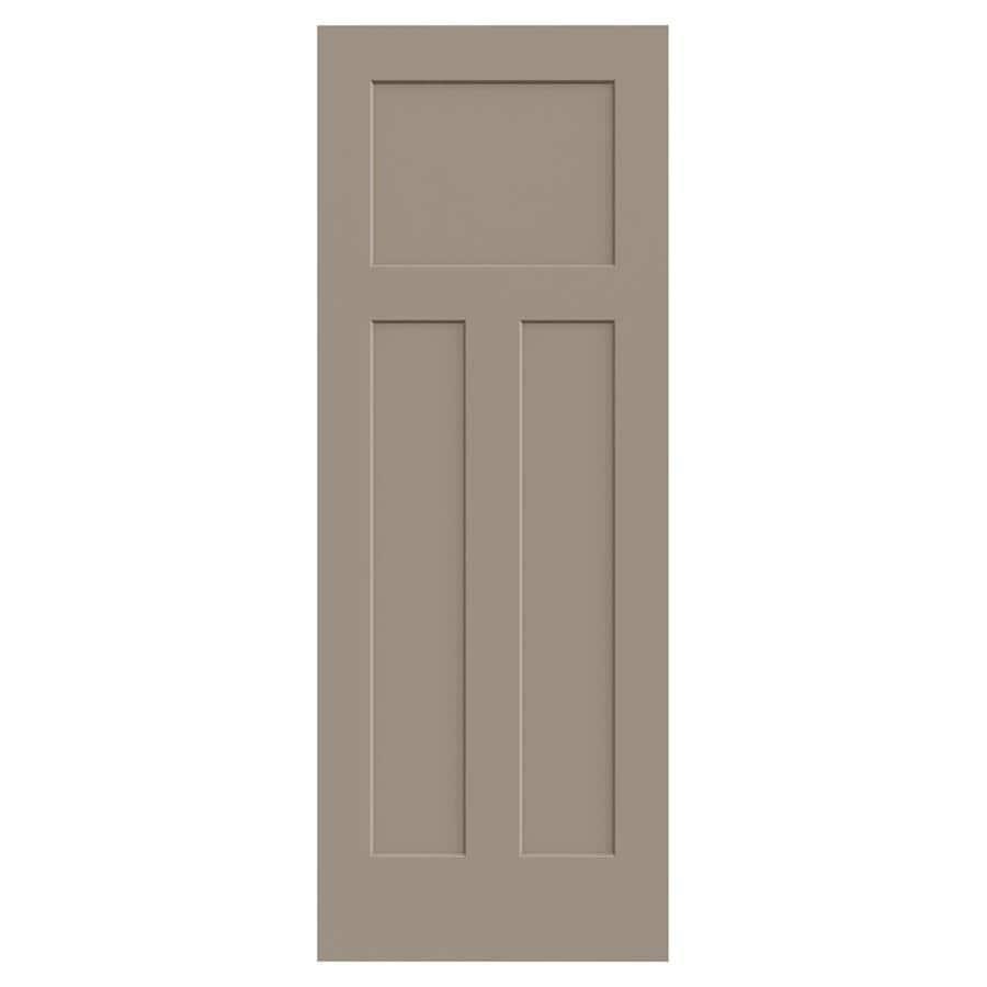 JELD-WEN Sand Piper Hollow Core 3-Panel Craftsman Slab Interior Door (Common: 28-in x 80-in; Actual: 28-in x 80-in)