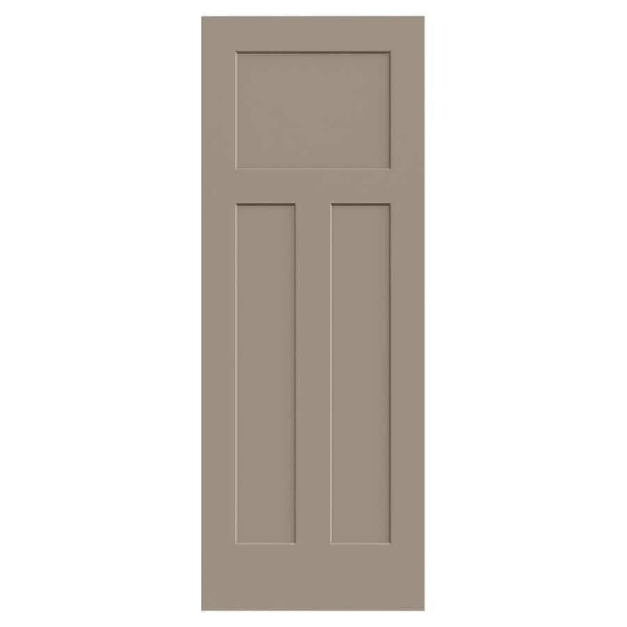 JELD-WEN Sand Piper Hollow Core 3-Panel Craftsman Slab Interior Door (Common: 32-in x 80-in; Actual: 32-in x 80-in)