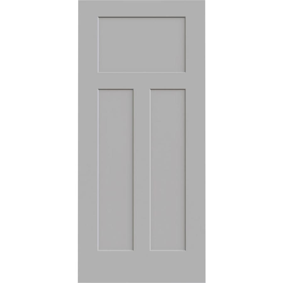 JELD-WEN Craftsman Driftwood Slab Interior Door (Common: 36-in x 80-in; Actual: 36-in x 80-in)