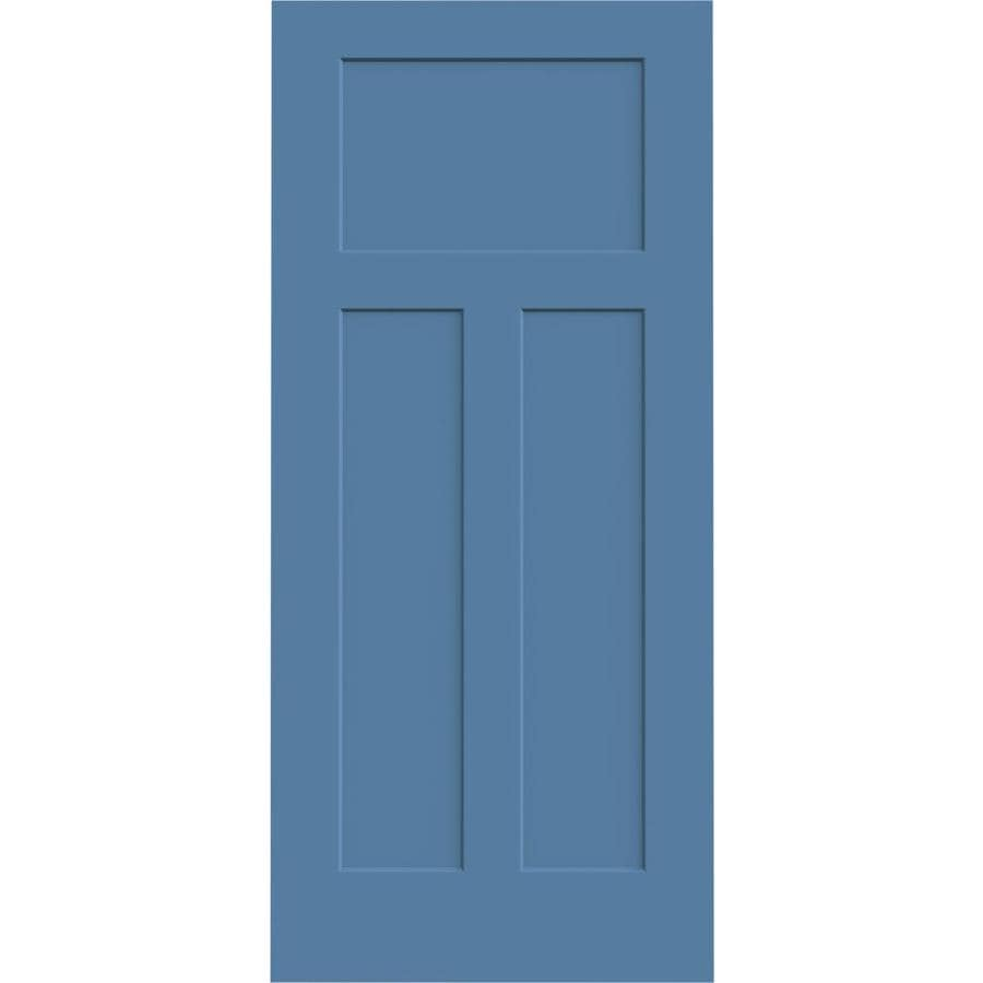 JELD-WEN Blue Heron Hollow Core 3-Panel Craftsman Slab Interior Door (Common: 36-in x 80-in; Actual: 36-in x 80-in)
