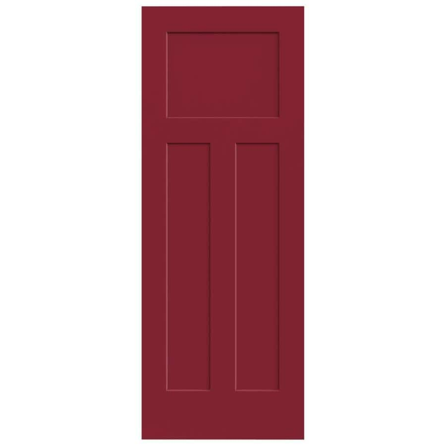 JELD-WEN Craftsman Barn Red Slab Interior Door (Common: 28-in x 80-in; Actual: 28-in x 80-in)