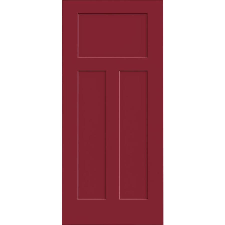 JELD-WEN Craftsman Barn Red Hollow Core Molded Composite Slab Interior Door (Common: 36-in x 80-in; Actual: 36-in x 80-in)