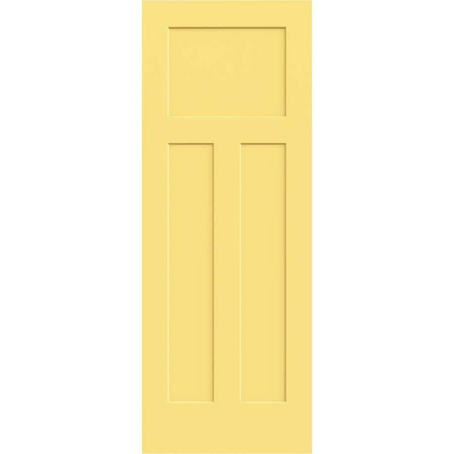 Shop Jeld Wen Marigold Hollow Core 3 Panel Craftsman Slab Interior Door Common 24 In X 80 In
