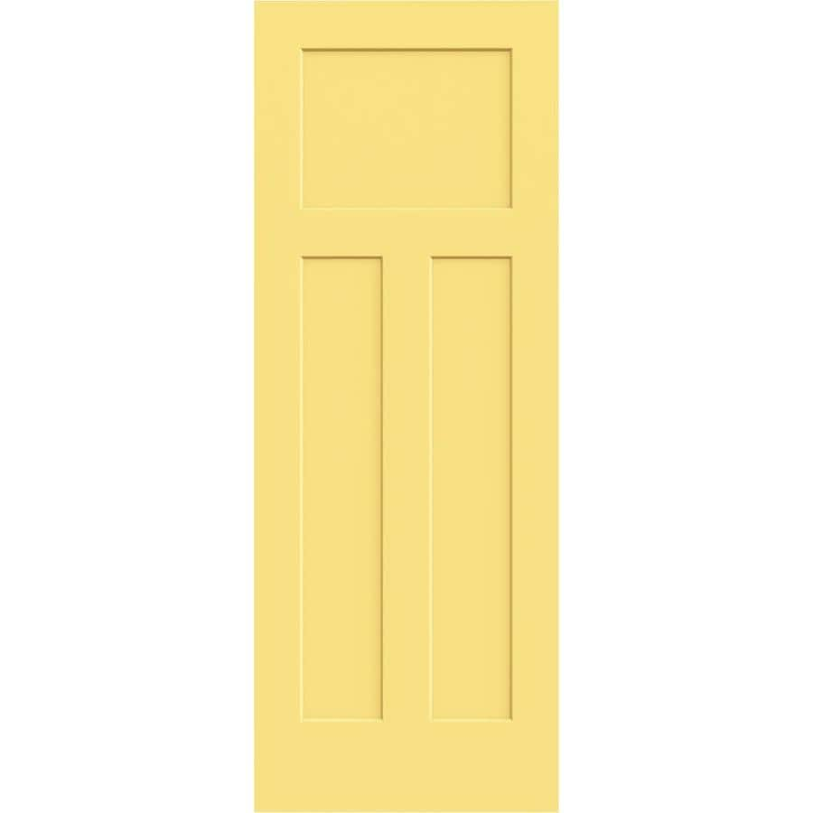 JELD-WEN Marigold Hollow Core 3-Panel Craftsman Slab Interior Door (Common: 28-in x 80-in; Actual: 28-in x 80-in)