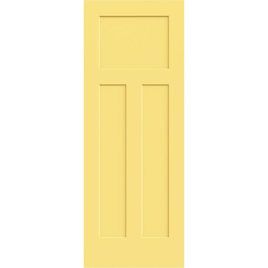 JELD-WEN Marigold Hollow Core 3-Panel Craftsman Slab Interior Door (Common: 30-in x 80-in; Actual: 30-in x 80-in)