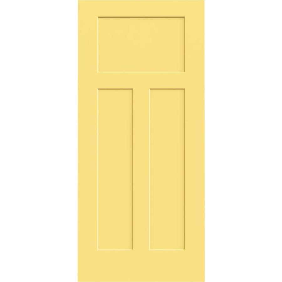 Shop Jeld Wen Marigold Hollow Core 3 Panel Craftsman Slab Interior Door Common 36 In X 80 In