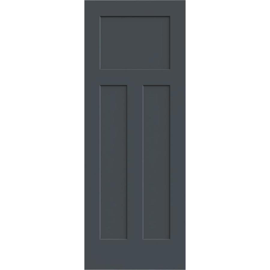 JELD-WEN Slate Hollow Core 3-Panel Craftsman Slab Interior Door (Common: 24-in x 80-in; Actual: 24-in x 80-in)