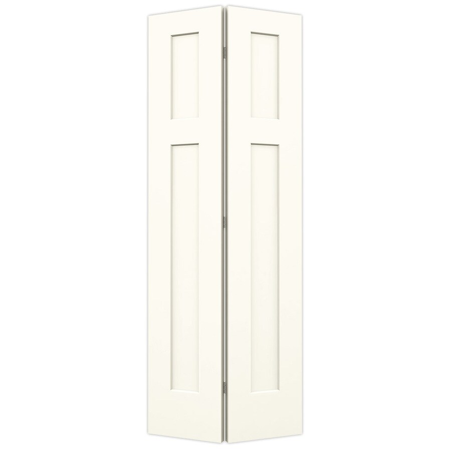 JELD-WEN Craftsman White Bi-Fold Closet Interior Door (Common: 32-in x 80-in; Actual: 31.5000-in x 79-in)