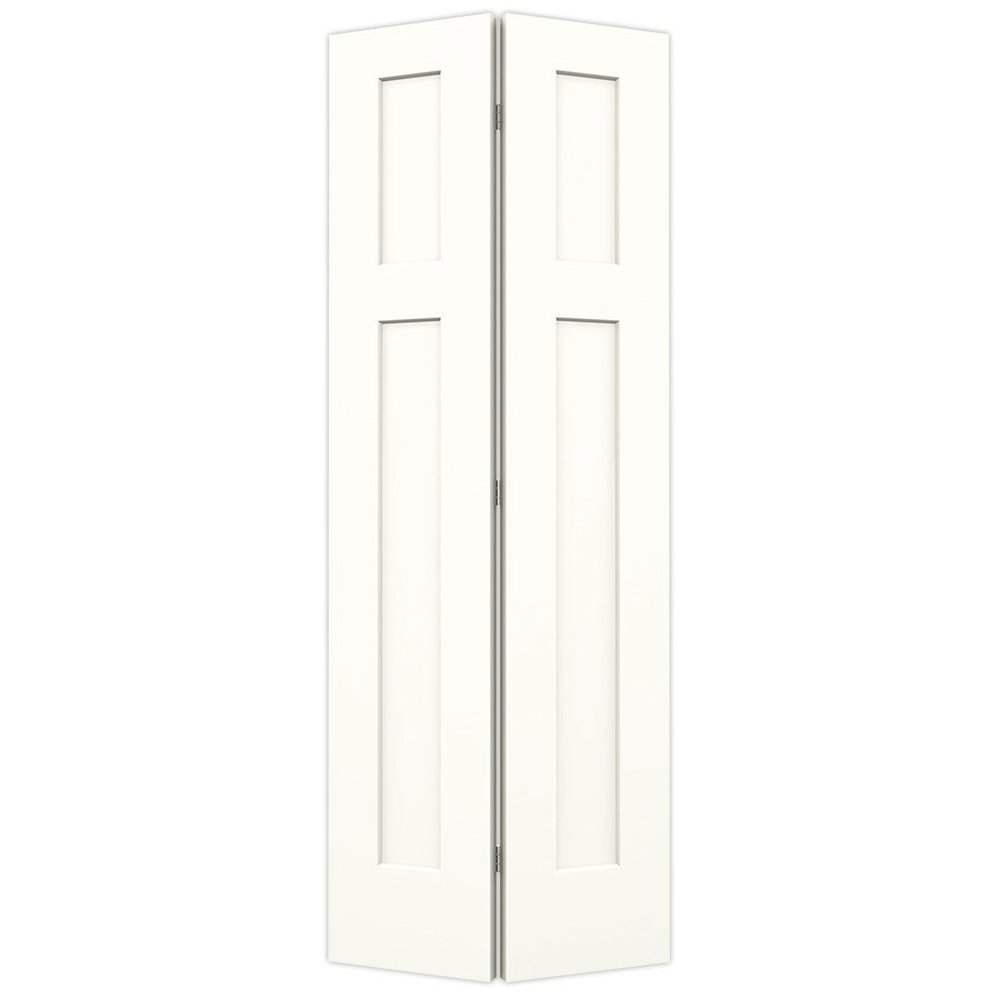 JELD-WEN Snow Storm Hollow Core 2-Panel Square Bi-Fold Closet Interior Door (Common: 24-in x 80-in; Actual: 23.5-in x 79-in)