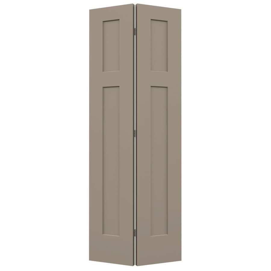 JELD-WEN Craftsman Sand Piper Hollow Core Molded Composite Bi-Fold Closet Interior Door with Hardware (Common: 32-in x 80-in; Actual: 31.5000-in x 79-in)