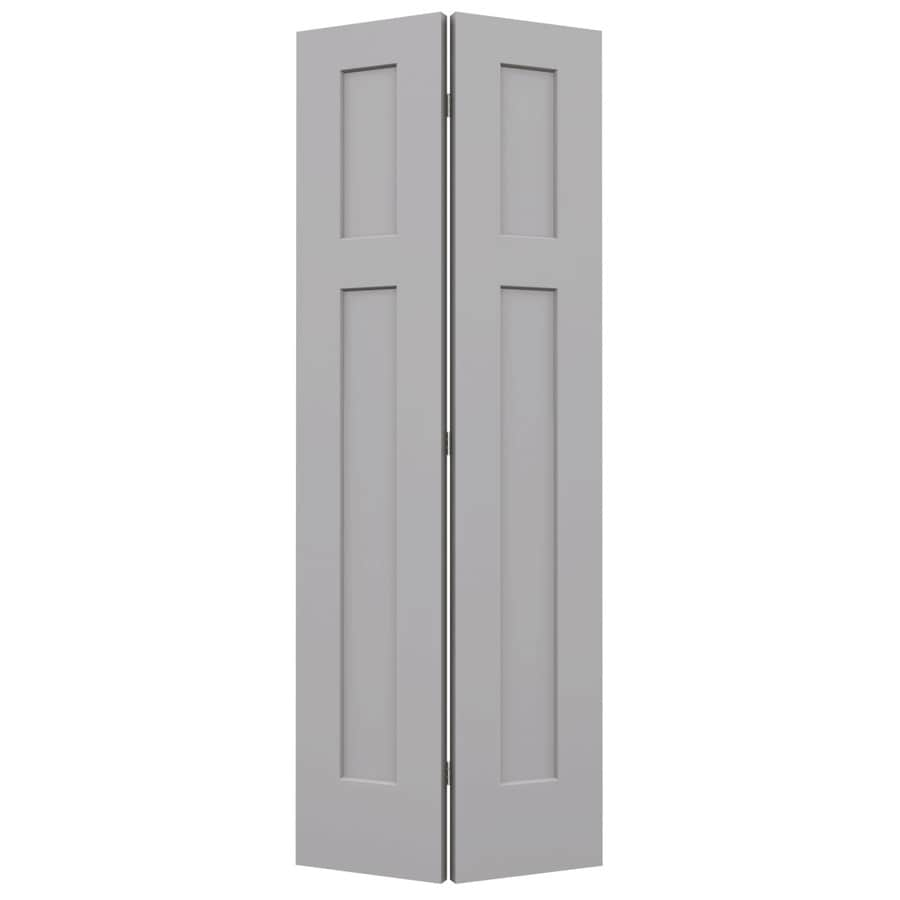 JELD-WEN Driftwood Hollow Core 2-Panel Square Bi-Fold Closet Interior Door (Common: 28-in x 80-in; Actual: 27.5-in x 79-in)