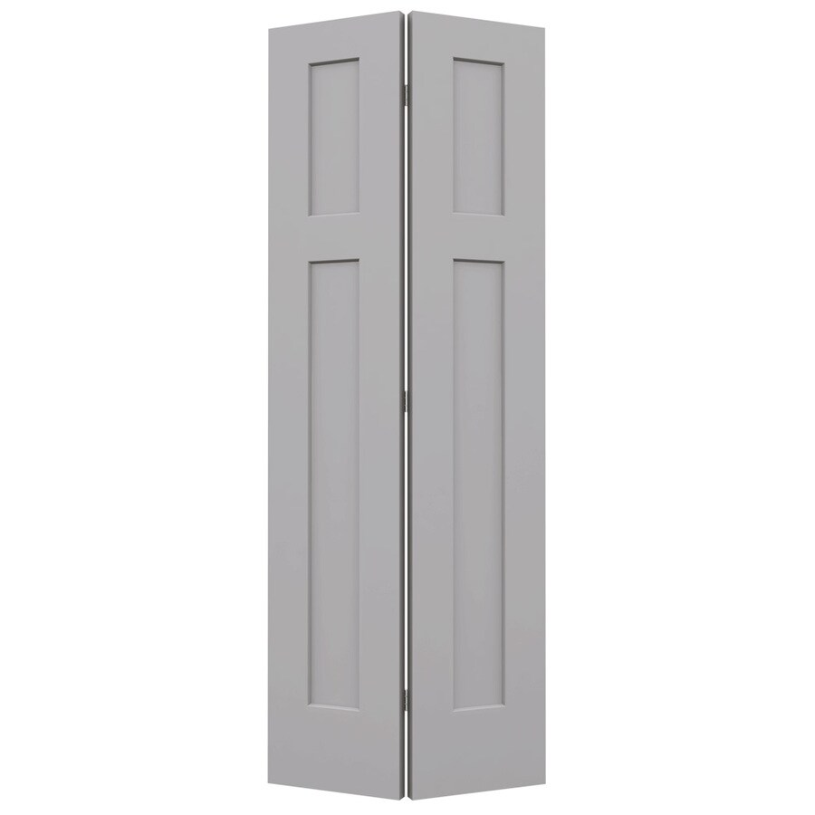 JELD-WEN Craftsman Drift Hollow Core Molded Composite Bi-Fold Closet Interior Door with Hardware (Common: 28-in x 80-in; Actual: 27.5000-in x 79-in)