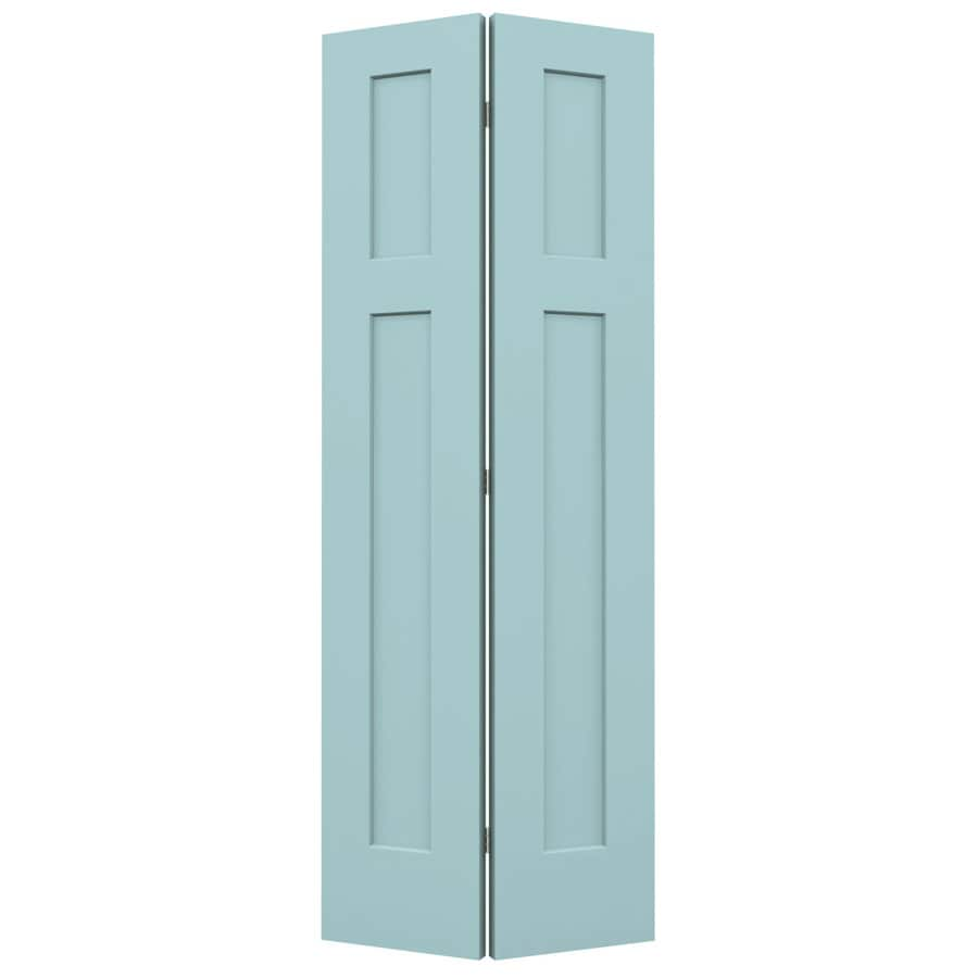 JELD-WEN Craftsman Sea Mist Hollow Core Molded Composite Bi-Fold Closet Interior Door with Hardware (Common: 24-in x 80-in; Actual: 23.5000-in x 79-in)