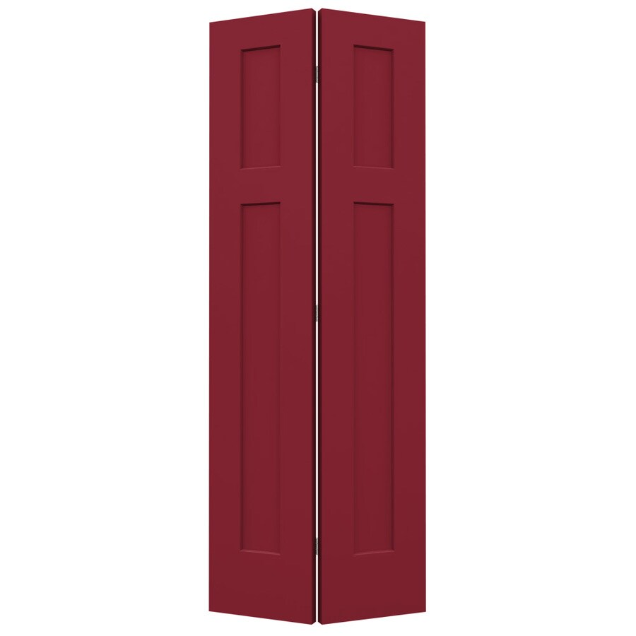 JELD-WEN Barn Red Hollow Core 2-Panel Square Bi-Fold Closet Interior Door (Common: 24-in x 80-in; Actual: 23.5-in x 79-in)