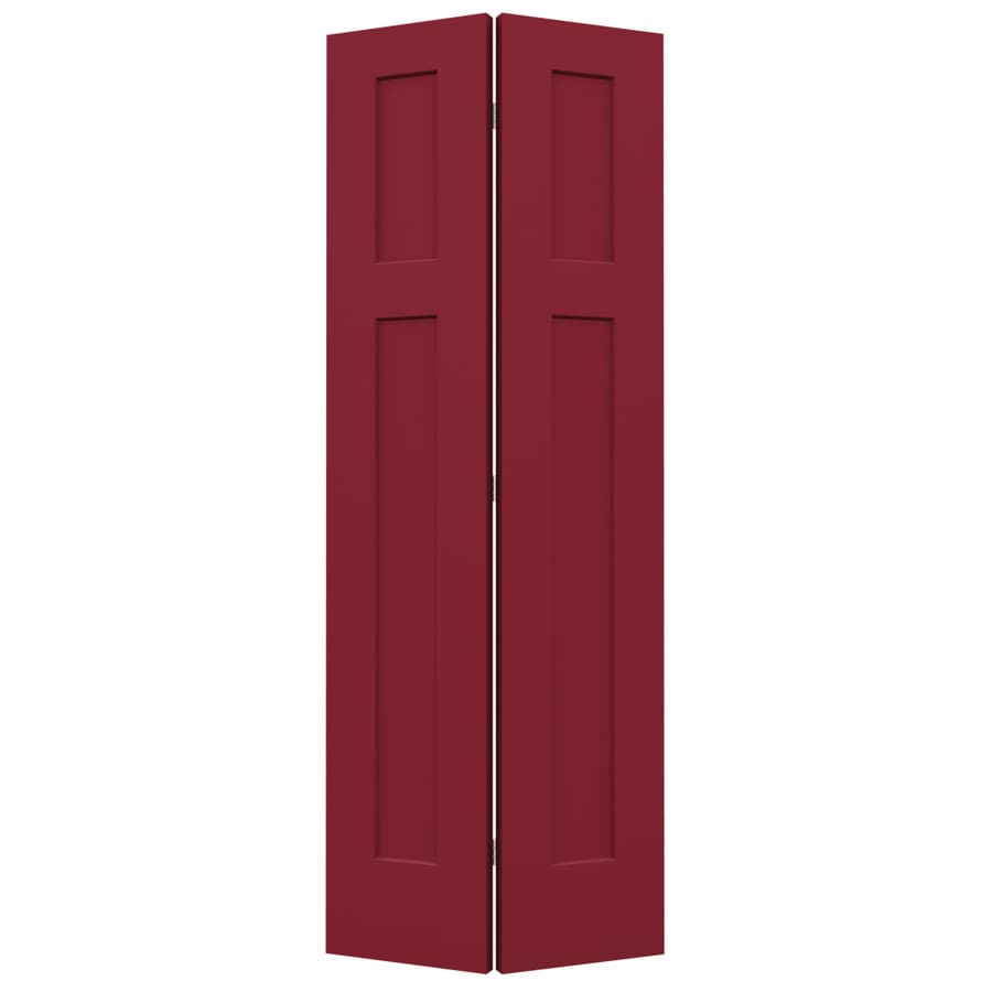 Shop Jeld Wen Craftsman Barn Red Hollow Core Molded Composite Bi