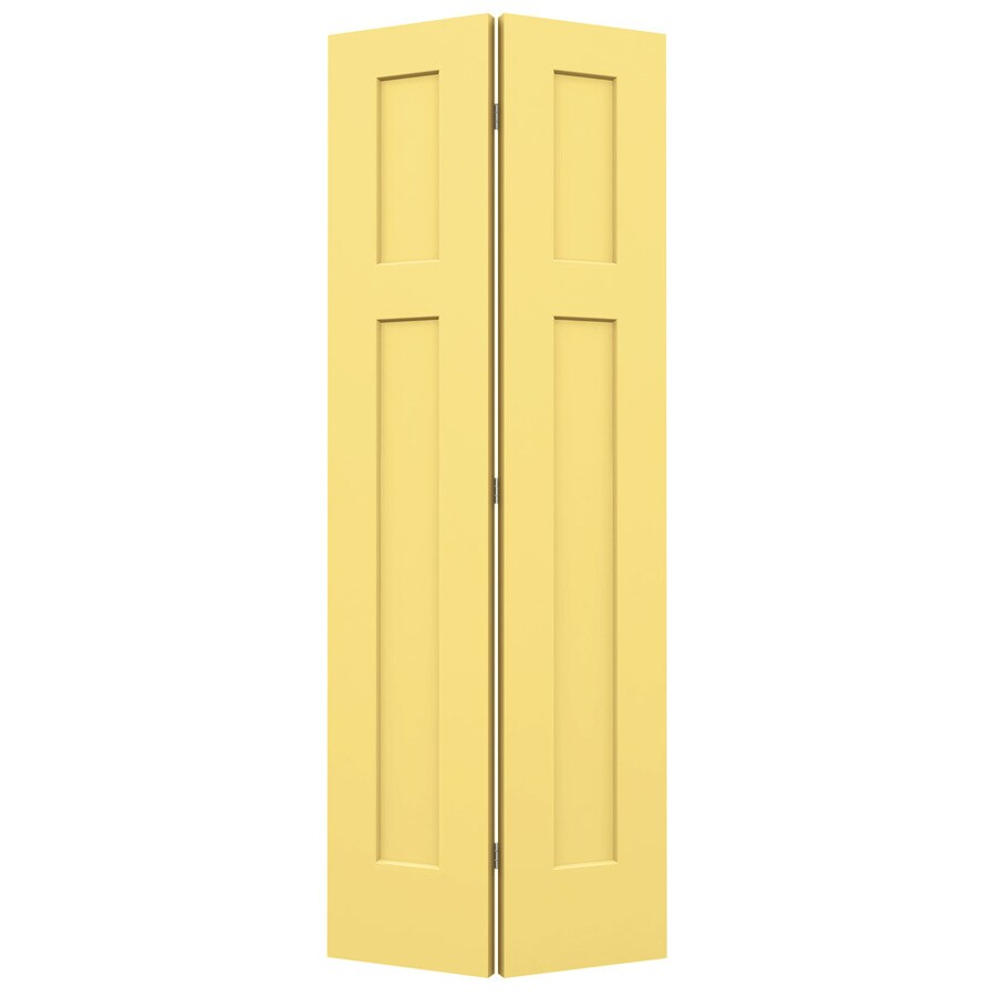 JELD-WEN Craftsman Marigold Hollow Core Molded Composite Bi-Fold Closet Interior Door with Hardware (Common: 24-in x 80-in; Actual: 23.5-in x 79-in)