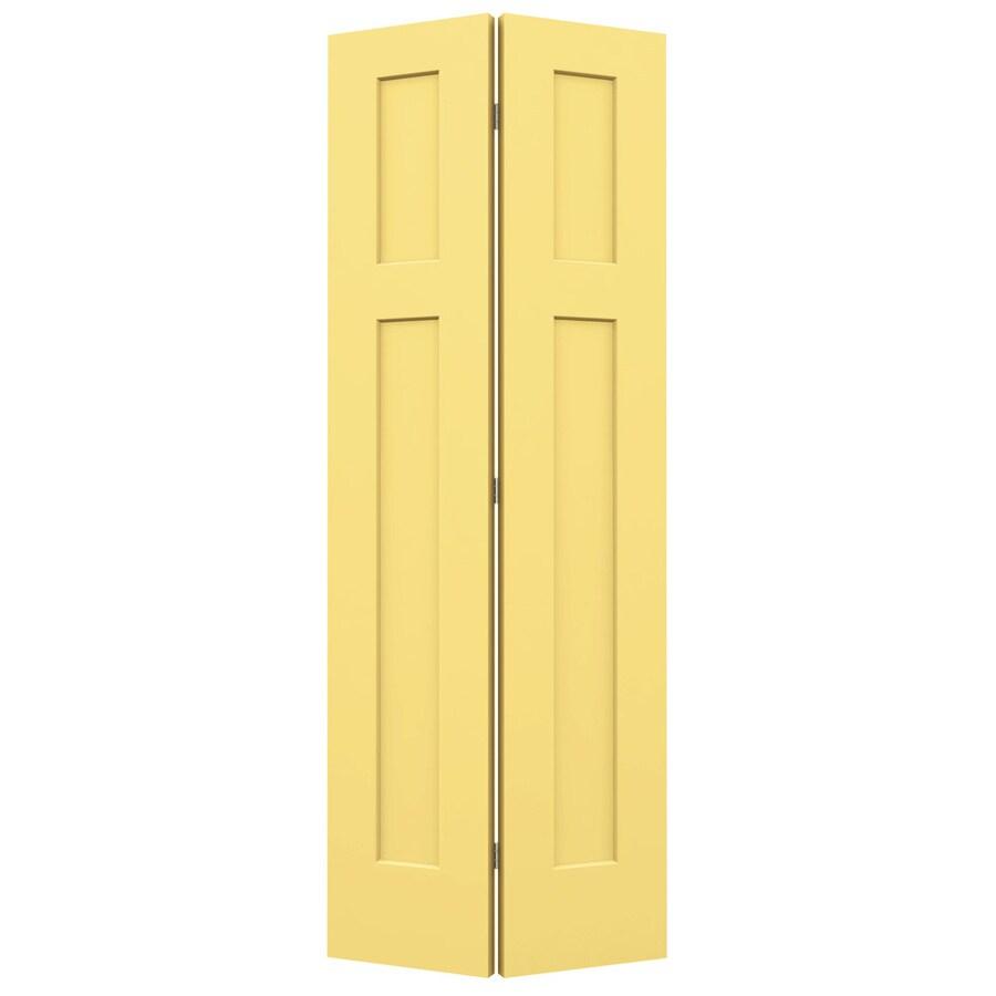 JELD-WEN Craftsman Marigold Bi-Fold Closet Interior Door (Common: 28-in x 80-in; Actual: 27.5000-in x 79-in)