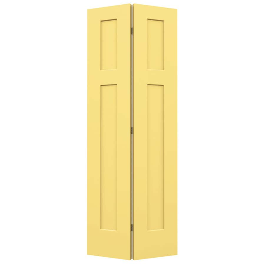 JELD-WEN Craftsman Marigold Hollow Core Molded Composite Bi-Fold Closet Interior Door with Hardware (Common: 32-in x 80-in; Actual: 31.5-in x 79-in)