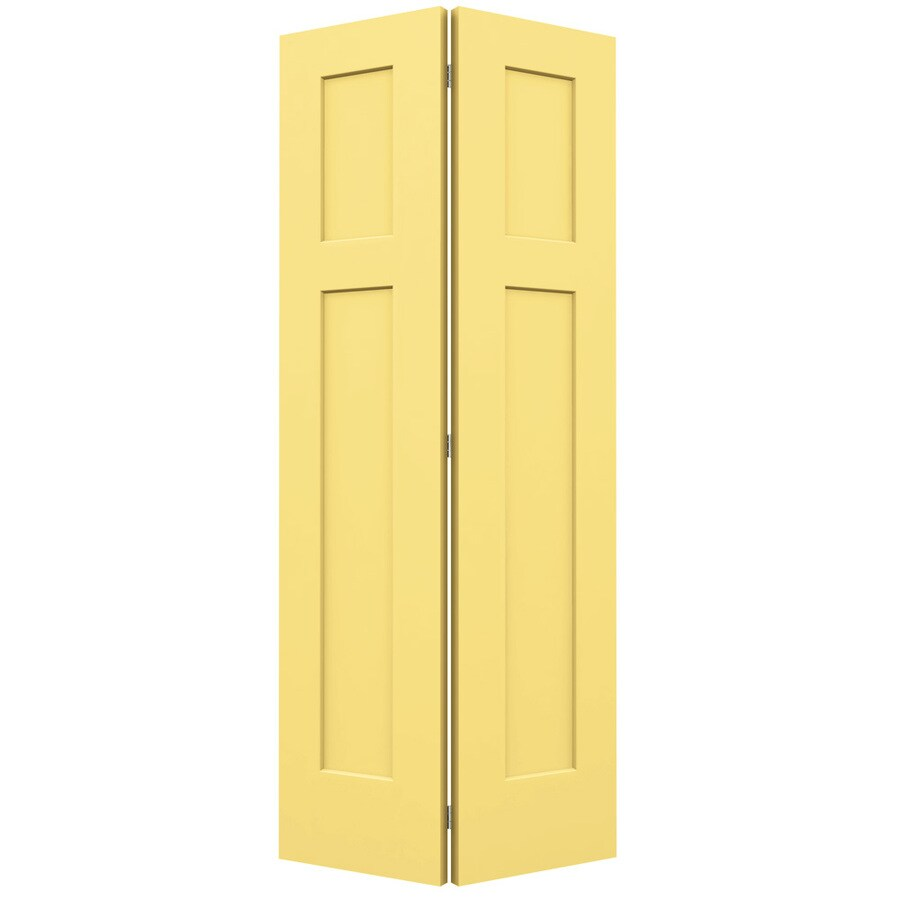 JELD-WEN Craftsman Marigold Bi-Fold Closet Interior Door (Common: 36-in x 80-in; Actual: 35.5000-in x 79-in)