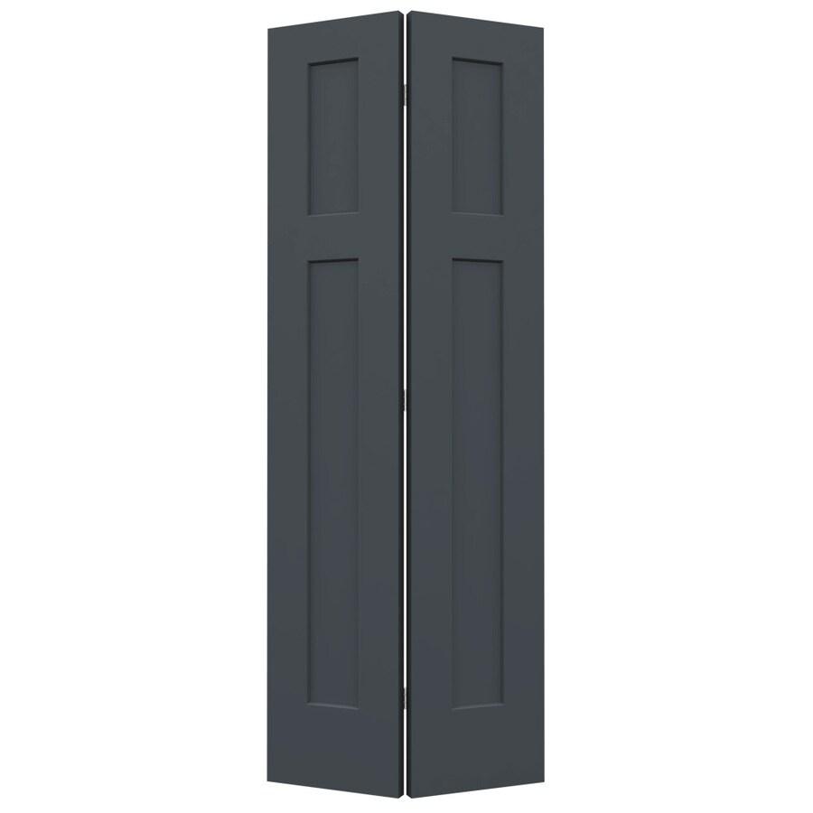 JELD-WEN Slate Hollow Core 2-Panel Square Bi-Fold Closet Interior Door (Common: 28-in x 80-in; Actual: 27.5-in x 79-in)