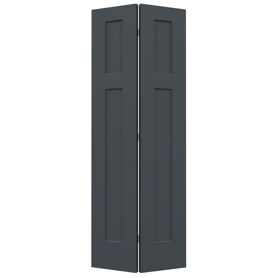 JELD-WEN Slate Hollow Core 2-Panel Square Bi-Fold Closet Interior Door (Common: 32-in x 80-in; Actual: 31.5-in x 79-in)