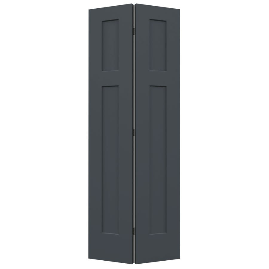 JELD-WEN Craftsman Slate 2-panel Square Bi-fold Closet Interior Door (Common: 32-in x 80-in; Actual: 31.5000-in x 79-in)