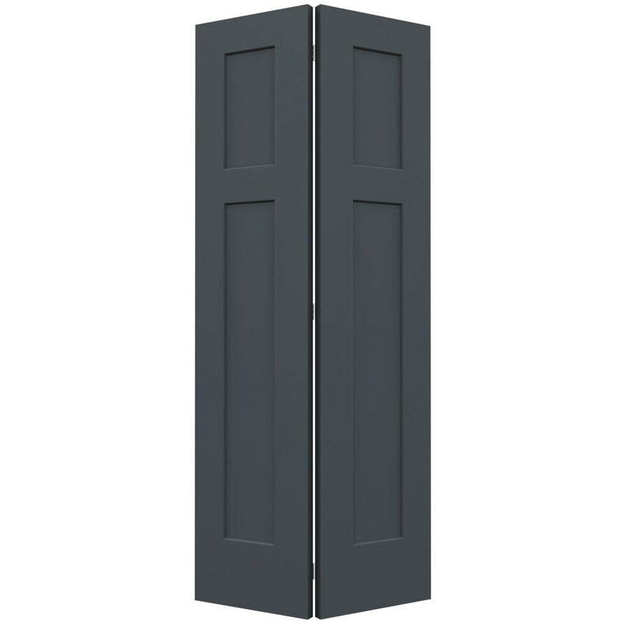 JELD-WEN Slate Hollow Core 2-Panel Square Bi-Fold Closet Interior Door (Common: 36-in x 80-in; Actual: 35.5-in x 79-in)