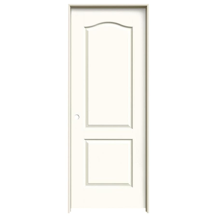 JELD-WEN White Prehung Solid Core 2-Panel Arch Top Interior Door (Common: 24-in x 80-in; Actual: 25.562-in x 81.688-in)